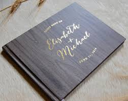 personalized guestbook gold guest book etsy