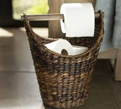 Decorative Toilet Paper Storage Perry Paper Holder Havana Weave Pottery Barn