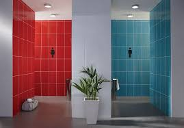 Bathroom Ceramic Tile Designs Colors Brighton Red And Blue 24 8x39 8cm Gloss Wall Tile By British