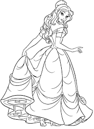 belle coloring pages kissing a flower coloringstar