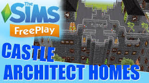 sims freeplay architect homes tour castles youtube