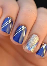 blue and gold glitter acrylic nails styling pinterest
