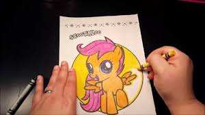 coloring corner my little pony scootaloo how to color asmr