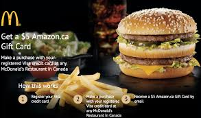 mcdonalds e gift card mcdonald s canada offers get a 5 ca gift card when you