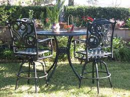 Cheap Bar Height Patio Furniture by Cheap Patio Bar Set With Swivel Chairs Find Patio Bar Set With