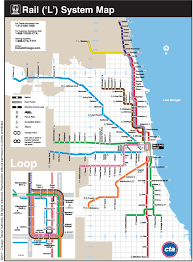 chicago map streets official map chicago cta l commuter rail transit maps