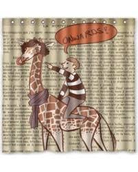 Novelty Shower Curtains Here U0027s A Great Price On Hipster Cartoon Giraffe Novelty Shower