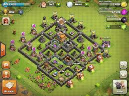 clash of clan clash of clans town hall level 7 base layouts coc th7