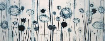 Flowers For Mum - tessa horrocks london printmaking artist