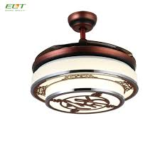 retractable blade ceiling fan with light retractable blade