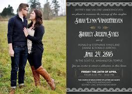 Wedding Invitations Utah Sarah U0026 Bradley Utah Announcements
