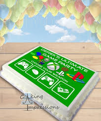 xbox cake topper console edible image sheet cake topper