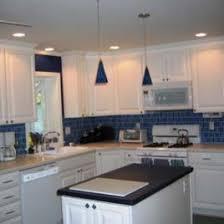 Glass Backsplash Ideas Kitchen Traditional With Blue Glass Tile - Blue tile backsplash kitchen