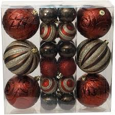 time ornaments traditional shatterproof set of 30