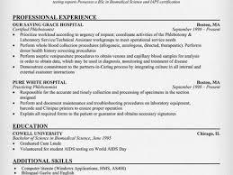 5 sample resume for phlebotomist resume example 2016 phlebotomy