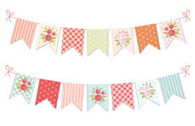 Shabby Chic Banner by Festive Vintage Garlands With Roses In Shabby Chic Style Isolated