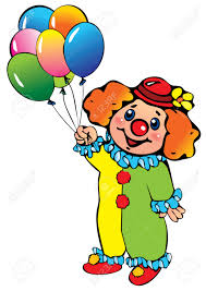 clown baloons clown with balloons happy birthday illustration on