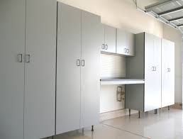 metal garage with living space large white metal storage cabinet with some doors and blakc legs