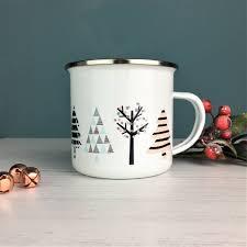 Tree Mug Cool Nordic Tree Enamel Mug By Hendog Designs