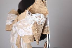 burlap chair sashes burlap chair sashes with lace roll fabric jute wedding