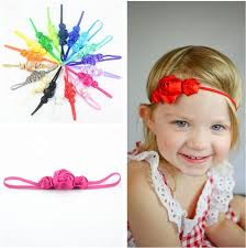 thin headbands satin ribbon flower on thin headbands flower headband