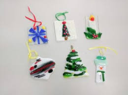 fused glass ornament workshop pottery in waukesha
