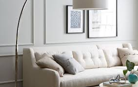 over the couch lighting over the couch floor l modern winslow arc sectional pottery barn