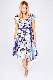 scarlett u0026 jo blue mix pastel floral sweetheart midi dress plus