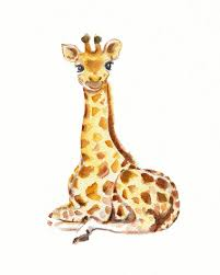 Giraffe Baby Decorations Nursery by Baby Giraffe Nursery Print From Original Watercolor 12 00 Via