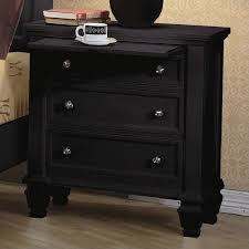 belcourt black nightstand nightstands in with drawers prepare 9