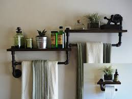 industrial wall shelving industrial custom paper towel holder from old metal pipe with wall