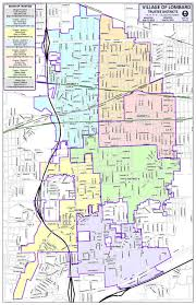 A Map Of Illinois by District Trustee Map Lombard Il Official Site