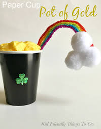 make a paper cup pot of gold craft for st patrick u0027s day kid