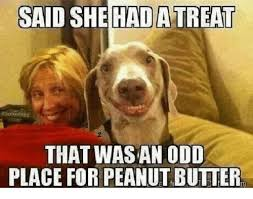 Peanut Butter Meme - said she hadatreat that wasan odd place for peanut butter meme on