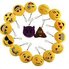 gardening emoji 8cm cute individuality emoji expression key rings plush keychains
