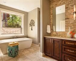 warm brown color bathroom vanity interior design ideas warm
