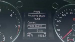 pair a mobile phone to a vw bluetooth kit