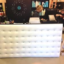 tufted salon reception desk tufted front desk tufted metal front reception desk the industrial