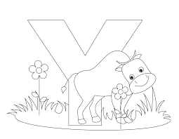 animal alphabet letter y is for yak coloring page y is for