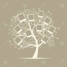 family tree design insert your photos into frames royalty free