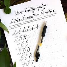 the all new beth style calligraphy worksheet the postman u0027s knock