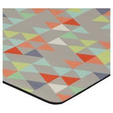Kitchen Floor Mat Gray Triangles Kitchen Floor Mat Rug 18 X30 Target
