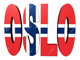 Flag Of Oslo Oslo Text With Flag On White Illustration Stock Photo Picture And