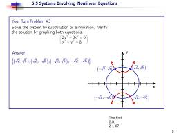 5 5 systems involving nar equations 8 x y answer the end b r