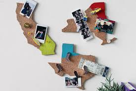 state shaped gifts slice some cork into state shaped memo boards cork board and gift