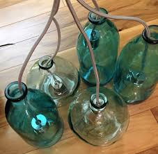 Blue Bottle Chandelier by Chandelier Made From Recycled Glass Bottles Can Bring Stylish