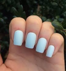 fake nails matte nails icy blue nails nail set