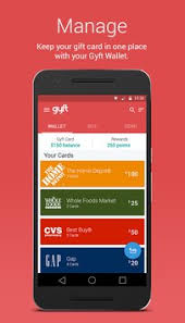 gift card wallet gyft mobile gift card wallet apk free shopping app