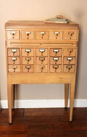 Antique Oak File Cabinet Index Card File Cabinet Antique File Cabinets