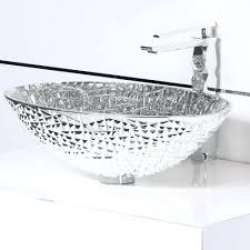 Hammered Silver Bathroom Sink Sinks Silver Glass Vessel Sink Black Hammered Bathroom Silver